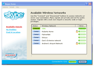 Skype Zones software